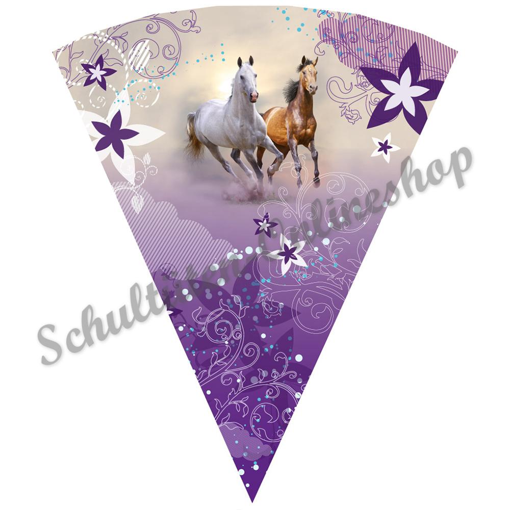 SCHLEIFE 22 // 35 // 50 // 70 // 85 cm Wildpferde mit Holzsp incl Schultüte