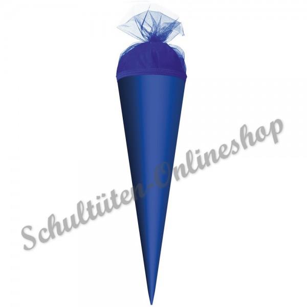 Schultüte uni 35 cm blau