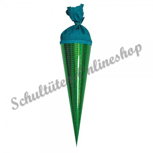 Hologramm Schultüte grün 35 cm