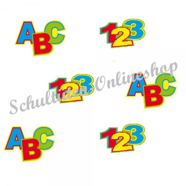 Streumotive Buchstaben und Zahlen